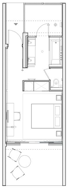 Hotel Sezz – Bungalow Room of the Hotel Sezz Saint-Tropez – Luxury Design Hotel – Dream Homes - Hotel Room Ideas Plan Hotel, Hotel Floor Plan, Luxury Floor Plans, Design Hotel, House Design, Design Design, The Plan, How To Plan, Floor Plan Layout