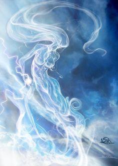 Air elemental by javi-ure on deviantART