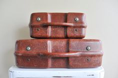 Fiberglass Suitcases / Two / Unique Suitcases / by TheWildPlum