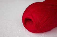 Cobweb bright red merino wool yarn  haapsalu shawl yarn
