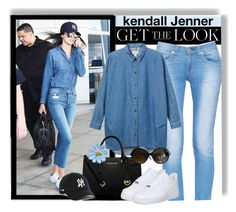 """Airport Look (Kendall Jenner)"" by pink1princess ❤ liked on Polyvore featuring WALL, rag & bone/JEAN, Monki, MICHAEL Michael Kors, NIKE and Emilio Pucci"