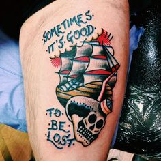 I like the wording with the boat but not so much the skull