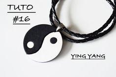 [Tuto polymère #16] Pendentif Ying Yang effet cuir en FIMO - Partenaria...