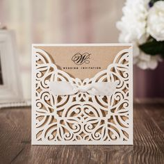Romantic and foil ivory folded castle wedding invitations - Laser Cut Wedding Invitations: Stylish Stationery for Your Big Day.Signup for our newsletter to get notified about sales and new product Carton Invitation, Laser Cut Invitation, Invitation Set, Invitation Templates, Laser Cut Wedding Invitations, Unique Wedding Invitations, Wedding Invitation Wording, Party Invitations, Cricut Invitations