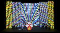 light color sound: magic flute SF Opera: Art direction by Japanese ceramic artist Jun Kaneko Lyric Opera, The Magic Flute, Stage Design, Set Design, Stage Set, Japanese Ceramics, Museum Collection, Experiential, Ceramic Artists