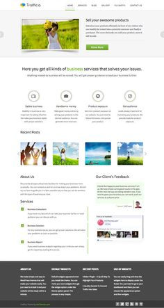 Traffica WordPress Multiple Business Service Theme