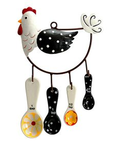 Hen House Measuring Spoon Set. So much better than having them all on the same ring!