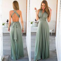 Very nice evening green dress wiht open back