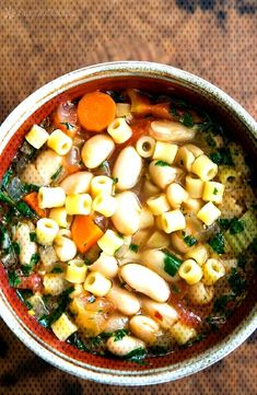 Pasta e Fagioli Pasta E Fagioli, Pasta Soup, Italian Soup Recipes, Soba Noodles, Black Eyed Peas, Tofu, Food To Make, Chili, Fries