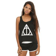 WB Harry Potter Deathly Hallows Mesh Lounge Tank Set