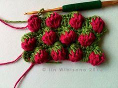Erdbeer Muster häkeln