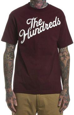 The Hundreds Forever Slant T-Shirt - Burgundy