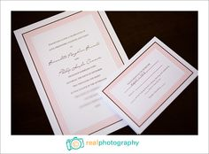 more awesome wedding invitations!   Real Photography