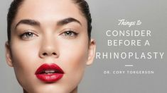 Before undergoing any facial plastic surgery, there are several important items to consider. A rhinoplasty, also known as a nose job, is an exciting possibil. Types Of Plastic Surgery, Plastic Surgery Procedures, Botox Before And After, Rhinoplasty Before And After, Rhinoplasty Surgery, Nose Surgery, Nostril Reduction, Botox Brow Lift, Botox Lips