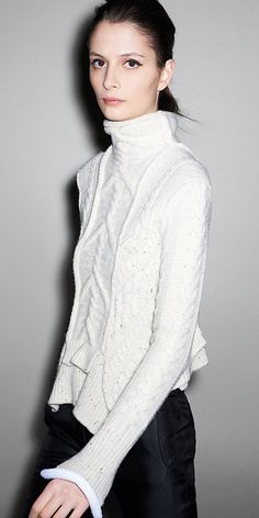 sweater cut like a fitted jacket~ celine