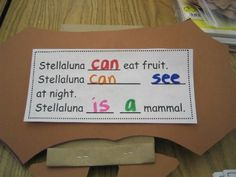 Bats Activities...I love this Stellaluna one--decorate a brown paper bag to look like Stellaluna--add writing to the back of the wings