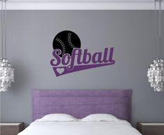 Softball Sports Decor Vinyl Decal Wall Art Words Sticker Lettering Teen Room Décor Home Art 31x22 Enchantingly Elegant http://www.amazon.com/dp/B00JYL2WQ6/ref=cm_sw_r_pi_dp_Gjequb0X3R7RQ