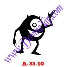 Çizgi Karekter Geçici Dövme Şablon Örneği Model No: A-33-10