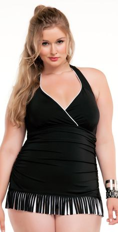 #Becca 2014 Night and Day Fringe #OnePiece #Swimsuit 3791247BLK #southbeachswimsuits