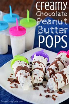 These Creamy Chocolate Peanut Butter Pops are SO easy to put together. The whole family will love this cool treat! ad