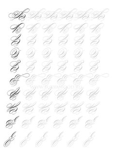 Calligraphy Worksheet, Copperplate Calligraphy, Calligraphy Practice, Arabic Calligraphy Art, Calligraphy Handwriting, Calligraphy Alphabet, Wedding Calligraphy, Penmanship, Handwriting Alphabet