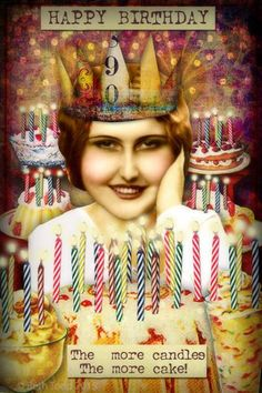 'More Candles, More Cake!' © Beth Todd 2015 All Rights Reserved *Created with Tumble Fish Studio's fun  kit's 'Sweet Stuff', her 'Confetti Overlays' and her fab freebie 'Birthday Candles'   all available here: http://www.mischiefcircus.com/shop/manufacturers.php?manufacturerid=29