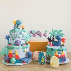 How about some hip dinosaurs to start your Monday on a good note? 😎😎😎 We loved this color palette; it definitely made one our favorite themes a whole new experience to make. Dinosaur First Birthday, 4th Birthday Cakes, Birthday Themes For Boys, Wild One Birthday Party, 1st Boy Birthday, Birthday Party Themes, Dinosaur Cakes For Boys, Dino Cake, First Birthdays