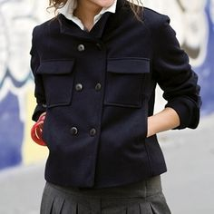 navy peacoat - free pattern (French)