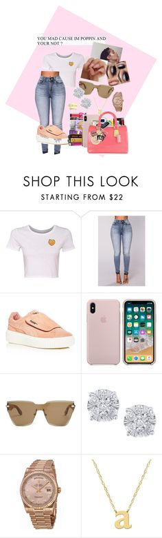 """""""Shapoppin"""" by thebratroyalty ❤ liked on Polyvore featuring Puma, Givenchy, Effy Jewelry, Rolex and Jane Basch"""
