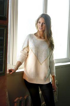 Jersey con pico y lurex dorado! www.amichi.es