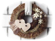 Door Wreaths, Grapevine Wreath, Burlap Wreath, Sisal, Summer Decoration, Grape Vines, Felt, Pearls, Etsy