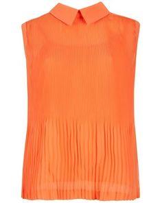 Ted Baker Pleated Top, Light Orange, John Lewis