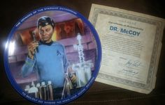 Star Trek Collector Plate - Dr. McCoy on Etsy