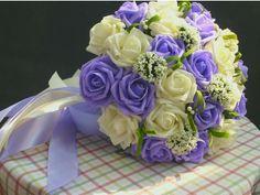 Bouquet Parme et blanc