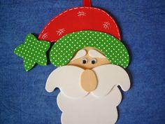 Colgantes navideños hechos con foami o goma eva - Dale Detalles Xmas Crafts, Santa, Christmas Tree, Crafty, Children, Blog, Decorative Items, Christmas Ornaments, Diy Home