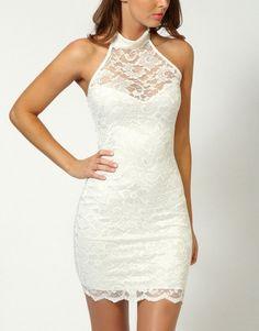 vestidos de gala cortos blancos - Buscar con Google