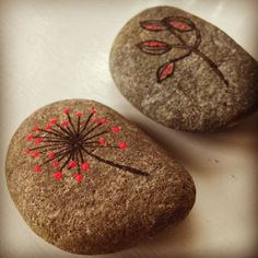 I like these rock doodles. Could this be a way to share stories? Perhaps painting stories on rocks and then stacking them?