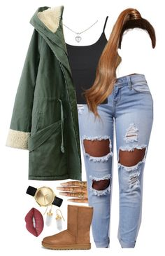 """10,15.16"" by mcmlxxi ❤ liked on Polyvore featuring BillyTheTree, Nixon, Cartier, Floss Gloss, Topshop, UGG and Lime Crime"