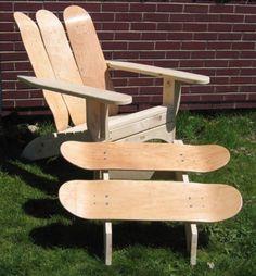 idées pour upcycled plateau meubles conception de planche à roulettes