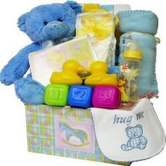 Art of Appreciation Gift Baskets Sweet Baby Care Package-Boy