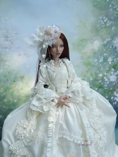 """Rococo gown for Deja Vu 16"""" doll"""