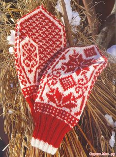 Готовимся к зиме. Вяжем варежки.