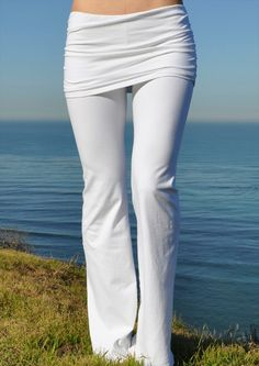 Jala Clothing Prana Gathered Waist Yoga Pants White  www.downdogboutique.com #YogaPants #YogaClothing #Yoga