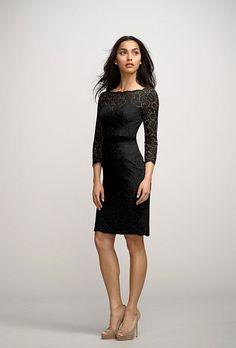 "Black Bridesmaid Dress: WattersBoatneck cocktail dress, style ""Posey,"" Watters"
