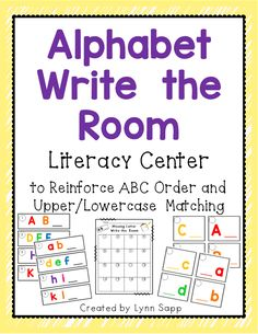 This versatile Write the Room center can be changed up in a variety of ways so your kiddos can practice and reinforce Alphabet Knowledge for several weeks!