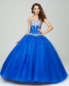 Amazing blue quinceanera gown  from Allure