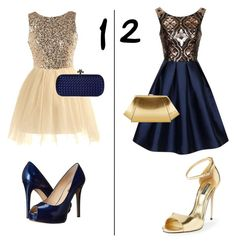 """""""Gold/blue evening dress preference"""" by cheerleader7avag ❤ liked on Polyvore featuring Chi Chi, Dolce&Gabbana, GUESS, Bottega Veneta, ZAC Zac Posen and ava_grace_contests"""