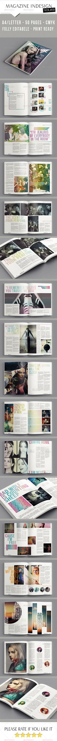 50 Pages InDesign Magazine #magazine #template #indesign