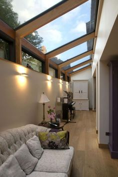 13 Stylish Glass Design Ideas For Your House - Local Home US - Home Improvement - You are in the right place about garden pool Here we o - Patio Interior, Home Interior Design, Interior Architecture, Orangerie Extension, Glass House Design, House Of Glass, Modern Glass House, Glass Houses, Side Extension