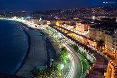Nizza by Night by Nele Ilic on Travel Photography, Destinations, Night, Beautiful, Travel Destinations, Travel Photos